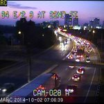 Due to the car broken down on 64 east in the junction, traffic is backed up to 22nd St. http://t.co/MFhYDLmKwJ