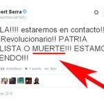 """RT @InformadorVeraz: """"PATRIA SOCIALISTA o ...????"""" ... NO es lo mismo llamar al diablo que verlo llegar - http://t.co/k9aRPZzeBe"""