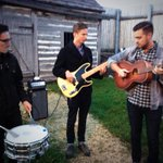 Edmonton-based indie rock band @scenicalaska getting ready for @CTVMorningWPG debut @7:27! @BreakOutWest #BOW2014 http://t.co/ebcdDTE0ZM
