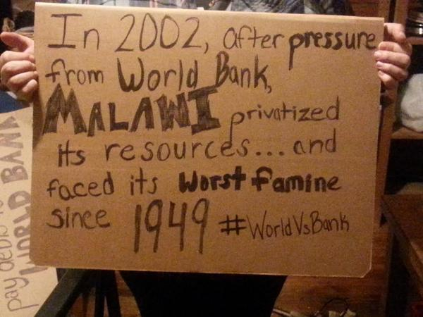 If we want to #EndPoverty we need to break the #WorldBank. #WorldVSBank http://t.co/TtM8adOLVV
