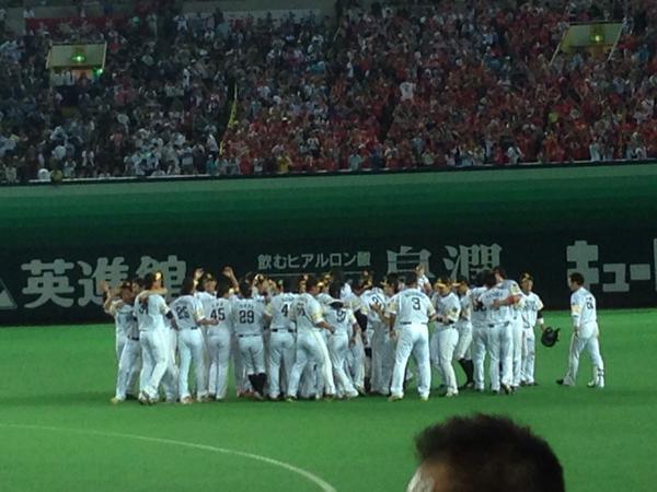 よ〜し!優勝!! 松田男泣き! http://t.co/lj2kNrXDqT