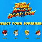 HI. launching our new game in two hours ???? #5SOSNINJAS http://t.co/l07BRy5fuF