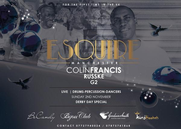 ESQUIRE in association with @KingHookahUK @BeCandyClothing @GoodwinSmithUK 2nd Nov don't miss out 07875741868 RT http://t.co/XQLlpRFFJ7