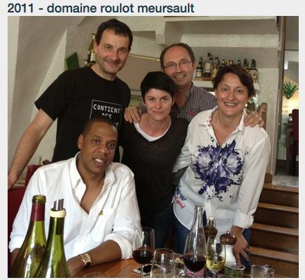 Jay Z & @Beyonce sont des amateurs de #vin et en particulier du Meursault de Jean-Marc Roulot http://t.co/x066zXgBc5 http://t.co/eq7eMe6clI