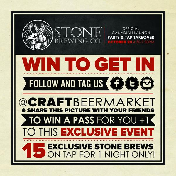 How can  you join us at our @StoneBrewingCo Launch on Oct. 20th? Re-tweet this photo. Winners announced at 5pm. http://t.co/s6wdJostWL