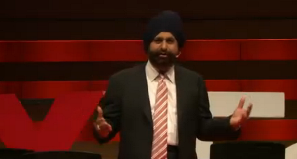 Now on stage: @Raptors Superfan Nav Bhatia says he wants to change public perception of Sikhs. #TEDxToronto http://t.co/GAnUht4M93
