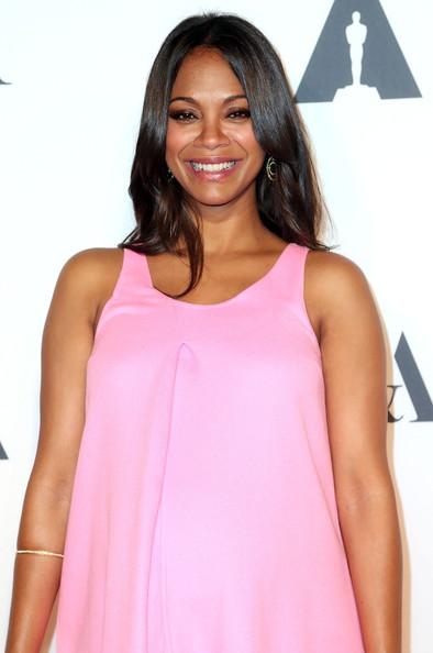 Actress @zoesaldana hosted the #HollywoodCostume exhibit opening w/ hair by @mararoszak #SWAredcarpet http://t.co/M1nUNljrLg