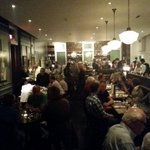 Packed house @AberdeenTavern tonight. Love the vibe in this place. Incredible service and food. #HamOnt http://t.co/M5UxShyswt