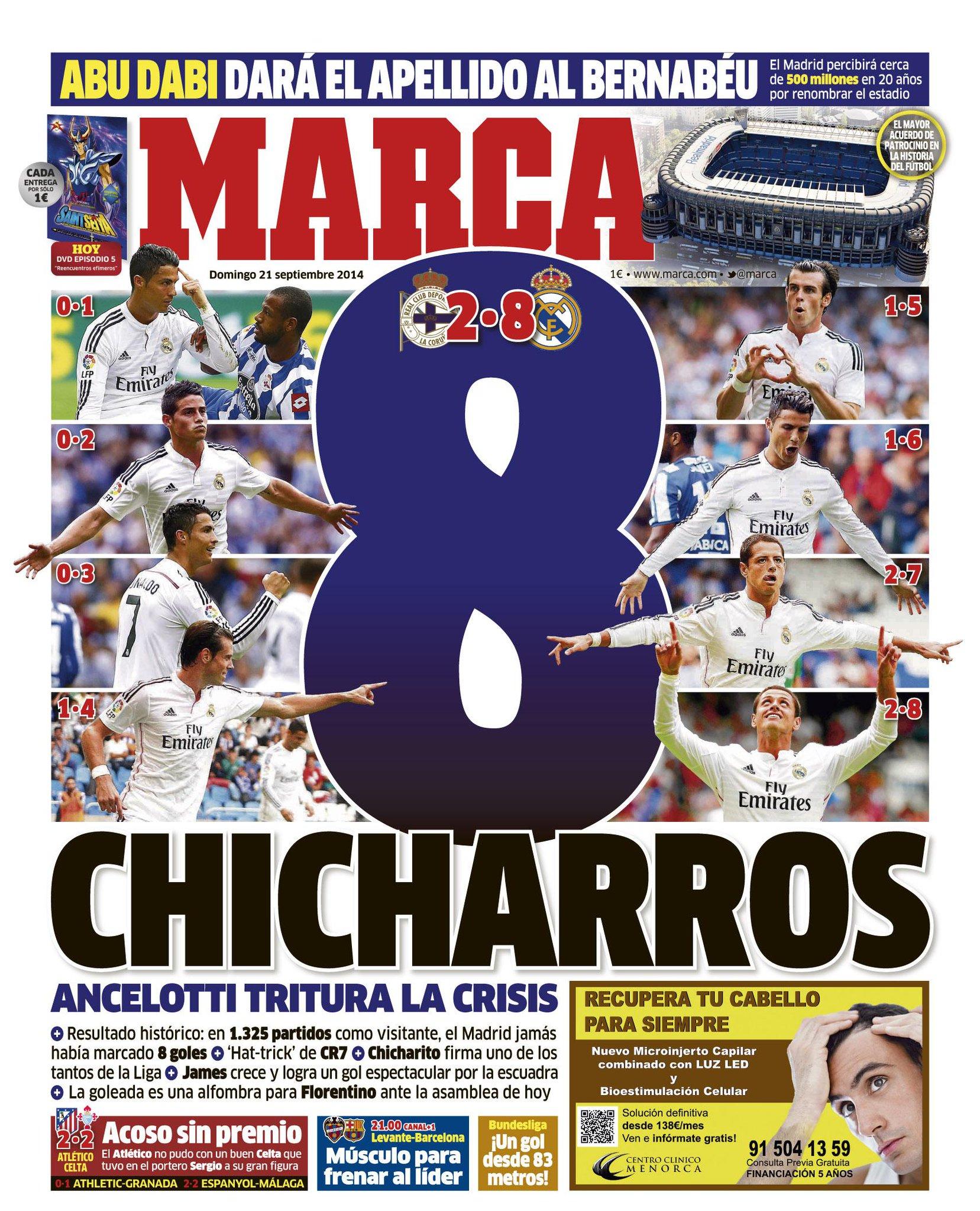 #LaPortada '8 chicharros' http://t.co/1yhRHrllTR