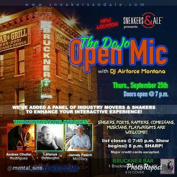 New York's hottest interactive open mic... period! #singers #rappers #comedians #poets #bronx #harlem #NYC #queens http://t.co/N6PIlICmvm