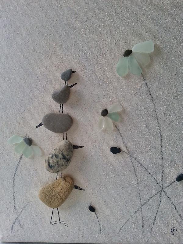 RT @juliespebbleart: More birds... #pebbleart #art #scarborough #handmade #birds #flowers http://t.co/Xjw0sOdDvc