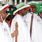Pres. Jonathan, VP Sambo, PDP Chair & other party leaders at the S/West Sensitization/Unity Rally in Lagos today. http://t.co/BzCKlUc0GA