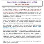 via @SoniaInk: #Taller Venezuela SANA CONTIGO 04/10 #VALENCIA http://t.co/i7MbXLNNLt #Valencia
