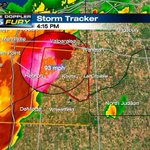 Inside tornado warned storm in western Indiana, radar is estimating winds in excess of 90 mph http://t.co/4oNrEcL5jf