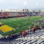 Five minutes until kickoff at FIU vs. Louisville. @EmptySeatsPics http://t.co/YD9uyOyixC