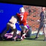 Nice block! Cadet saves Miss Rev from tackle! @BrentZwerneman #ReveilleVIII #AggieFBLife http://t.co/0VaWiM8Clk
