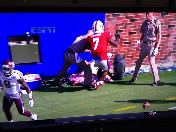 Protecting Reveille. Spectacular. #gigem http://t.co/t3yh2hQ0Ix