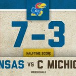 Thanks to a monster run from Tony Pierson, #kufball heads to the half with the lead. REPLAY: http://t.co/YvL5kf3D5J http://t.co/PoiS5a8VBG