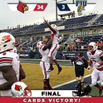 RT @UofLFootball: Victory for the #Cards! Todays final score: UofL 34 - FIU 3. #ItsGood2Be #CardNation #L1C4 http://t.co/FFgMwRVZm7