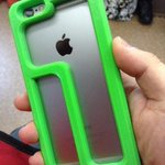 3Dプリンタで指が短い人用のiPhone6ケースつくった! これで親指が届く! http://t.co/ibBgPnVDvK