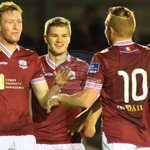 RT @Galway_FC: Gary Shanahan celebrates his goal against Finn Harps with Colm Horgan, @ryanscholsey92 and @vinnyfaherty. #galwayfc http://t.co/QOTGRvw5IT