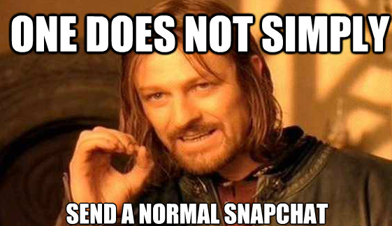 Retweet if you've never sent a normal @SnapChat.   Follow us + bring on the weirdness! Username: vh1 http://t.co/LpjnFZ4LTC