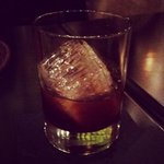 Housemade coffee liqueur @betonynyc. On some badass ice. Like, ninja ice. You never saw it coming til it was on you.