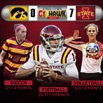 RT @CycloneATH: VICTORY! @CycloneVB sweeps Iowa! #Cyclones now up 7-0 in #CyHawkSeries #cyclONEnation http://t.co/42XpTxGiyL