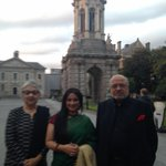 Wth mrs n mr shyam benegal before t event at t prestigious trinity college! http://t.co/CGiqSvy8CL