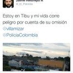 RT @jfvecino5: Jaime Restrepo @_El_Patriota denuncia que corre peligro su vida se encuentra en Tibu atención @PoliciaColombia http://t.co/sy1SzyYh8U