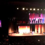 Past Mr. Olympia champions (including Arnold!) on stage at the start of the 2014 Mr. Olympia contest! http://t.co/J4M7k553VQ