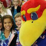 We have some wild and crazy fans in Horejsi tonight! @KUVolleyball is up 1 set to 0 vs. Arkansas! #RockChalk http://t.co/gLV3IwCUzR