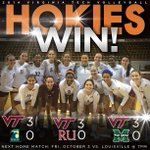 RT @VT_VBall: #Hokies complete the sweep! Winning the Hokie Invite and going a perfect 3-0 on the weekend. http://t.co/ikstYnlUGL
