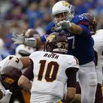 RT @KUAthletics: A second-half surge lifts @KU_Football over Central Michigan, 24-10 http://t.co/p6FXDlqM1E #kufball http://t.co/xiONoI66ny