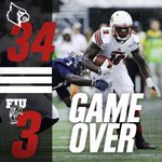The Cardinals improve to 3-1 on the season after taking care of FIU 34-3! #GameOver http://t.co/jzDQoWH5fr