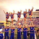 Cheered both a @KU_Football and @KUVolleyball win today - another great day to be a Jayhawk! #RCJH http://t.co/B2exndDbqc