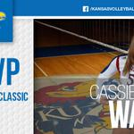 Congrats to our All-Tournament Team members Ainise Havili and Cassie Wait! First MVP award for No. 5. #RockChalk http://t.co/kYN0yBKx42