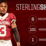 RT @OU_Football: .@sterl_shep3 with another 100-yard game! BOOMER! http://t.co/BFg43cR87c