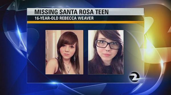 MT @KTVU: #SantaRosa teen Rebecca Weaver has been missing since Wednesday - RT spread the word http://t.co/mog03QAUPi http://t.co/f2nlrzOgUl