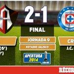 RT @record_mexico: Termina el encuentro. Atlas le pega 2-1 a Cruz Azul en el Jalisco: http://t.co/KhvzD5AwCQ http://t.co/QZVXfYnyav