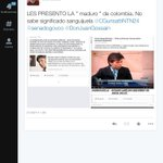 RT @FatimaNeira: @CGurisattiNTN24@senadogovco@DonJuanGossain@_El_Patriota @IvanCepedaCast@CLOPEZanalista@HassNassar maduro colombiana http://t.co/aZHu5R02RV