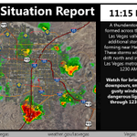 11:15 PM: Storms beginning to impact the #Vegas metro. Storms will move quickly north thru the valley. #VegasWeather http://t.co/CuXaQlDgi7