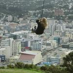 PSA for other big kids who like a view: another swing has gone up on Mt Vic. Probably wont last long. http://t.co/uJVFDrx4ks
