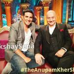 RT @AkshaySena: Tonight 8PM Last episode of @AnupamPkher Show with SelfMade Superstar @akshaykumar Dont Miss It :-) http://t.co/MbPgrMKqbq