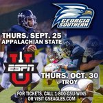RT @GSUExOps: BLUE OUT vs App. State Thurs. Sept. 25 Paulson. ESPN lets show the nation #GATA Wear Blue!! http://t.co/ns4tSbY8Q0