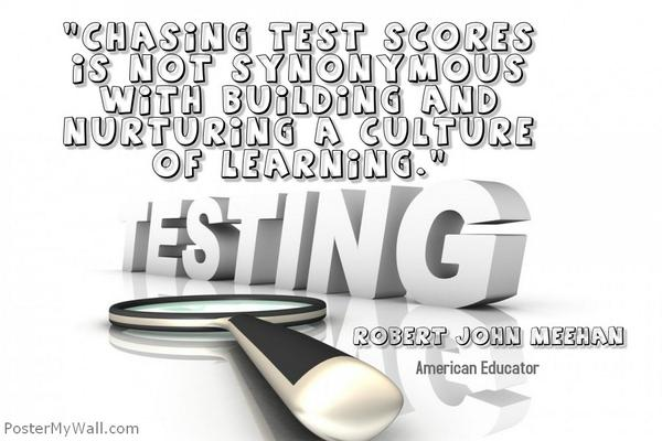 Chasing test scores is not synonymous with building and nurturing a culture of learning. https://t.co/tk4R3vXXGe