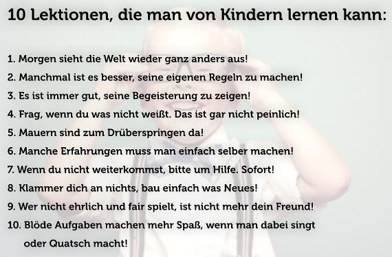 10 Lektionen, die man von Kindern lernen kann... http://t.co/1Pj1yVMcMZ