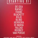 United XI: De Gea, Rafael, Evans, Blackett, Rojo, Blind, Herrera, Di Maria, Falcao, Rooney, van Persie #MUFClive http://t.co/jD3m76VBuB