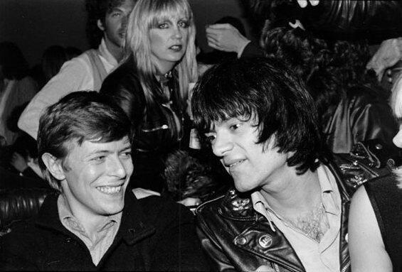 ☆David Bowie and Dee Dee Ramone☆ @PunKandStuff http://t.co/38eC1rs809