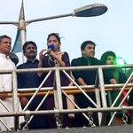 RT @Hassanalipti: Famous actor @ManiOfficial786, hockey legend Samiullah & cricket legend Javed Miandad at #Pti4karachi Jalsa http://t.co/0djeG63IeN